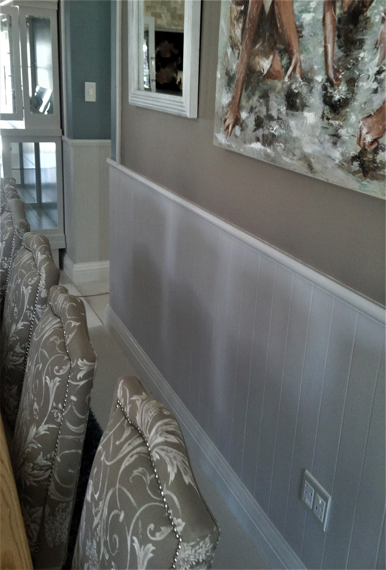 Dining room wall detail